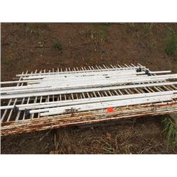 3 lengths of sewr pipe and pallet of decorative railings