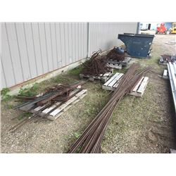 Approx Twenty Five 20' rebar approx 15 mil