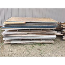 Large quantity of misc plywood