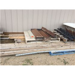 Pallet of 2 x 6, 2 x 8, 2 x 10, in 16' lengths and three metal concrete forms