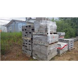 Eleven pallets of ssorted cindercrete blocks