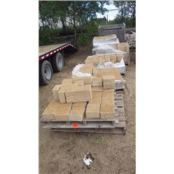 Five pallets of cream split face blocks