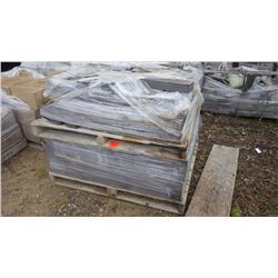 Two pallets of charcoal split faced blocks