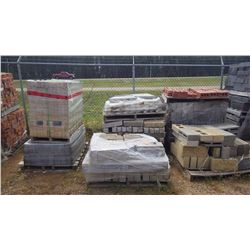 Seven pallets of misc bricks