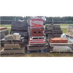 Fifteen pallets of misc bricks and stone