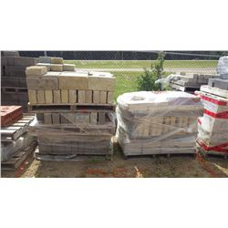 Eight pallets of misc bricks