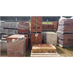 Thirteen pallets of mostly new brick