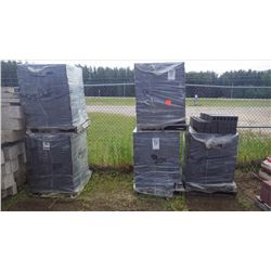 Five pallets of midnight black emperer smooth faced brick