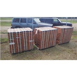 Three pallets of medium iron spot Velour King bricks