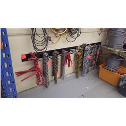 Approx 9 stall heavey duty wall rack approx 9 hooks. Comes in two pieces it is what the chains are h
