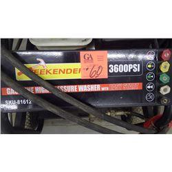 Weekender 3600 PSI gas power washer, easy start