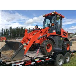 2014 Model ZL 10F wheel loader 51HP Diesel 4 x 4 with articulating frame and 40 hours. Vin# 13068. F