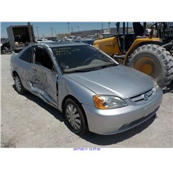 2001 - HONDA CIVIC // EXPORT ONLY // SALVAGE