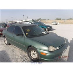 1999 - DODGE NEON  // REBUILT SALVAGE