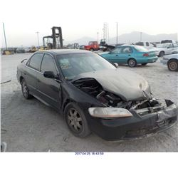 2001 - HONDA ACCORD // SALVAGE TITLE