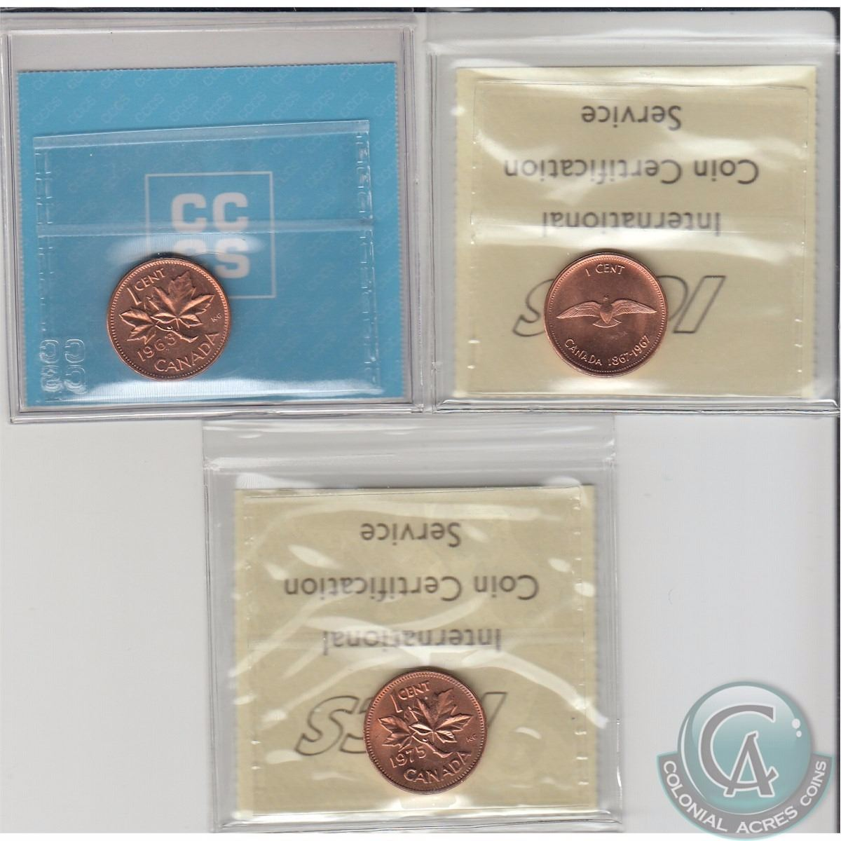 CCCS graded MS64 1963  Hanging 3