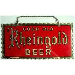 """Good Old Rheingold Beer"" Reverse Glass Sign"