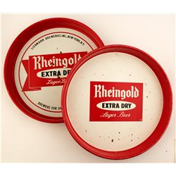 2 Rheingold Beer Trays