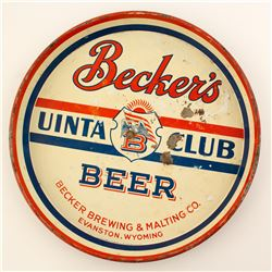 Beckers Uinta Club Beer Tray (Evanston, WY)