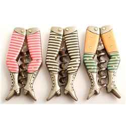 Three Ladies Legs Corkscrews