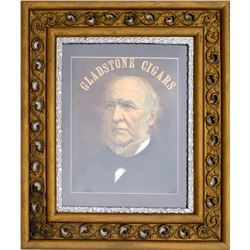 Large Gladstone Cigar Framed Advertisement