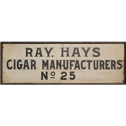 Large Ray Hays Cigar Advertising Wooden Sign