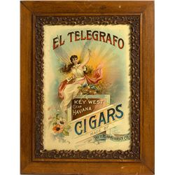 El Telegrafo Havana Cigars Framed Advertisement