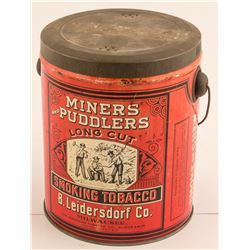 Tobacco Tin: Miners and Puddlers Long Cut Smoking Tobacco