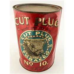 Cut Plug Tobacco Vintage Tin Can