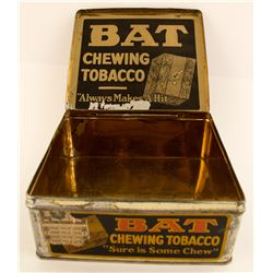 Vintage BAT chewing tobacco tin