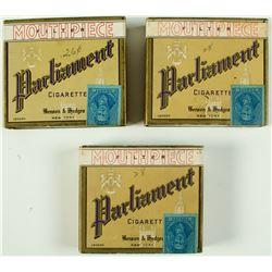 3 Unopened Parliament Cigarette Packs