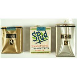 3 Vintage Unopened Spud Cigarette packs