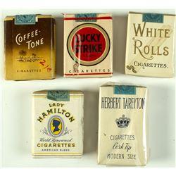 5 Vintage Unopened Cigarette Packs
