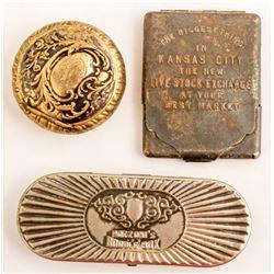 Three Antique Metal Cases