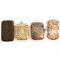 Four Art Deco/Nouveau Match Cases
