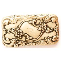 Ornate Engraved Match Case