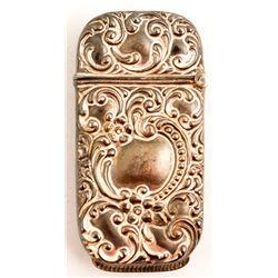 Engraved Metal Match Case