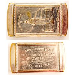 Silver Plated Leadville, Colorado Match Safe (Pan Pacific Exposition)
