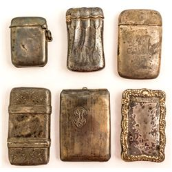 Six Match Cases (Four Engraved)
