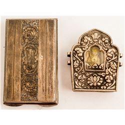 Two Ornate Metal Boxes