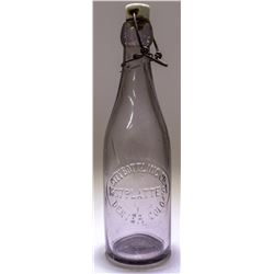 Clear Purple Pint Beer Bottle (Denver, Colorado)