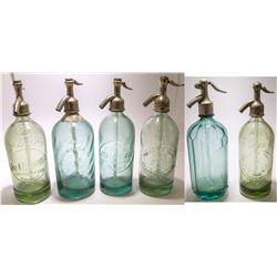 Green Mexico Seltzer Bottles (6)
