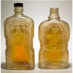 2 Carnival Glass Pint Bottles