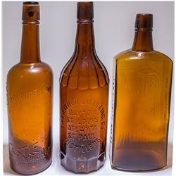 3 Amber Western Whiskies