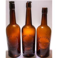 3 Western Whiskeys c.1900-1910