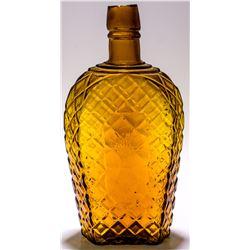 Amber Wheat Sheaf Whiskey Flask
