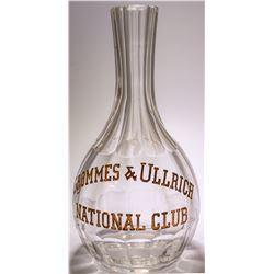 National Club, Chicago Backbar Bottle