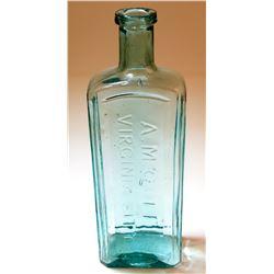 AM Cole Aqua Patent Medicine Style Drug Bottle (Virginia City, Nevada)