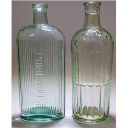 2 Green Poison Bottles