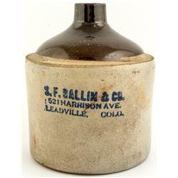 S.F. Ballin & Co. Jug (Leadville, Colorado)